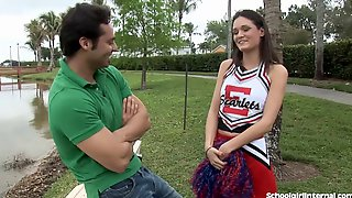 Slutty Cheerleader Gets One Big Creampie