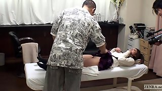 Uncensored bizarre Japanese pubic shaving salon..