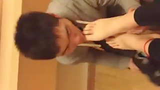 Asian Girl Footjob
